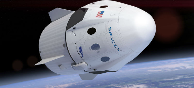 Cápsula Dragon de la Space Exploration Technologies. Foto: SpaceX